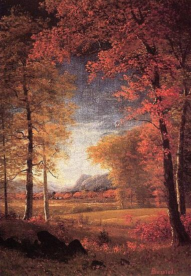 Albert Bierstadt Autumn in America, Oneida County, New York